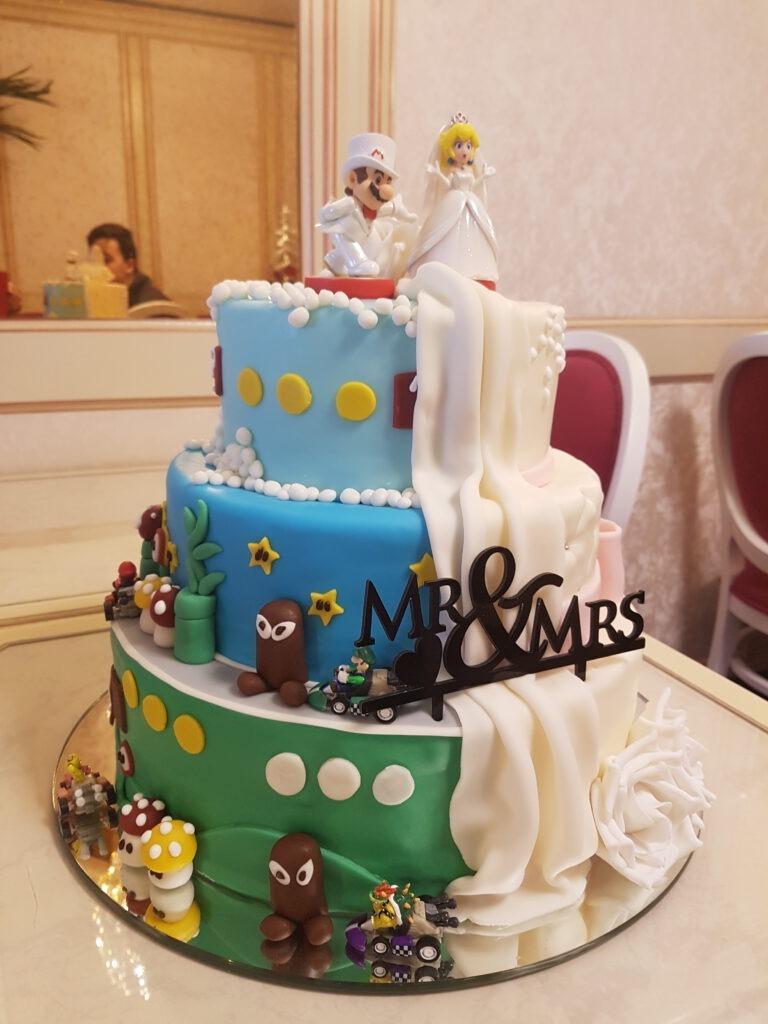 Hochzeitstorte Super Mario & Daisy