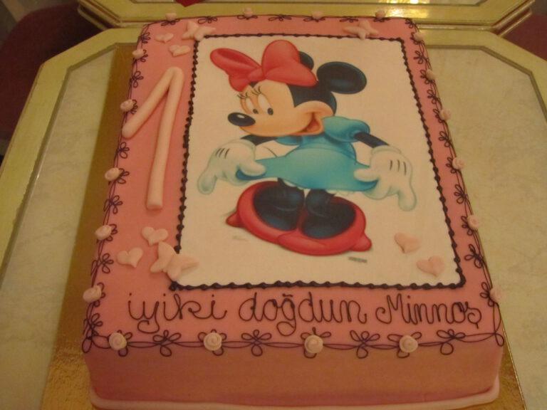 Geburtstagstorte mit Minnie Maus